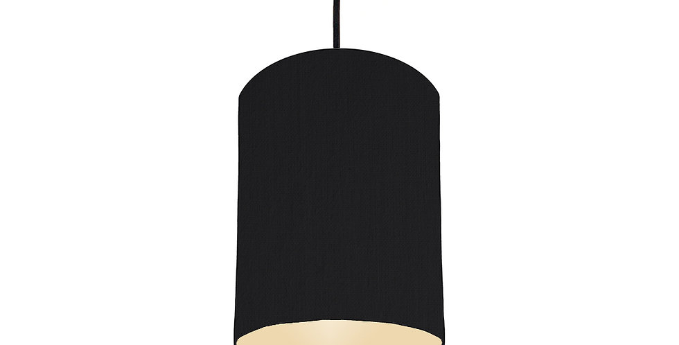 Black & Ivory Lampshade - 15cm Wide
