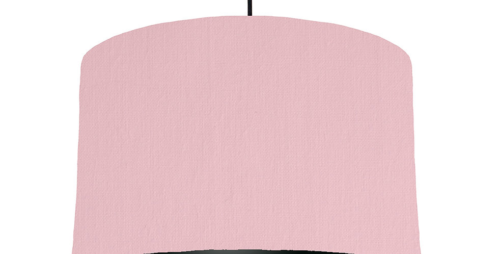 Pink & Black Lampshade - 40cm Wide