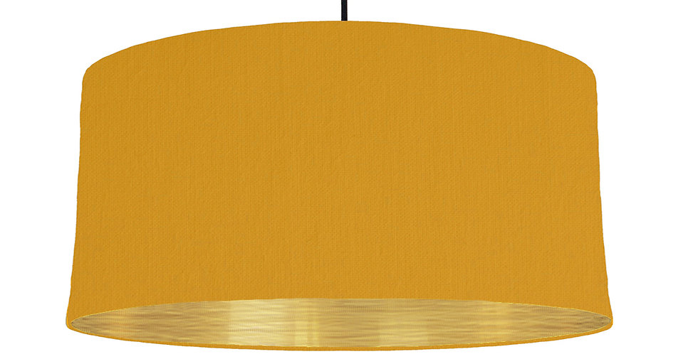 Mustard & Brushed Gold Lampshade - 60cm Wide