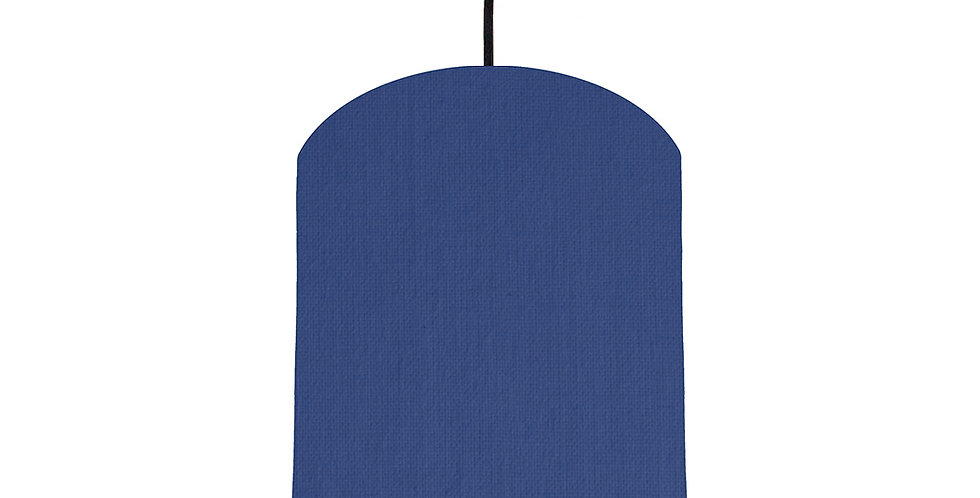 Royal Blue & Navy Lampshade - 20cm Wide