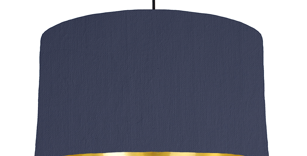 Navy & Gold Mirrored Lampshade - 50cm Wide