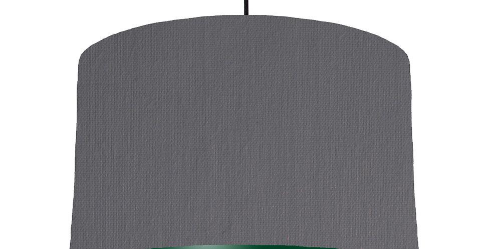 Dark Grey & Forest Green Lampshade - 40cm Wide