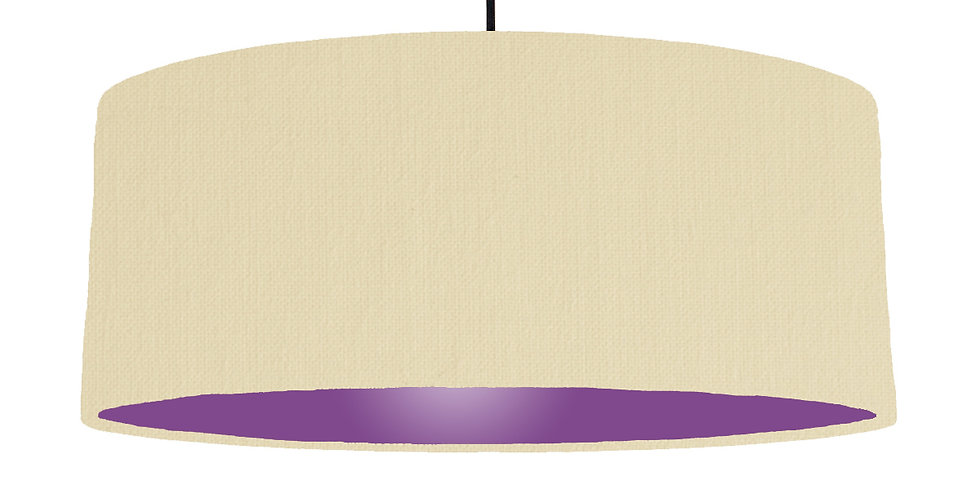 Natural & Purple Lampshade - 70cm Wide