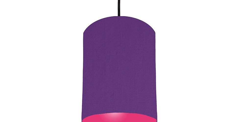 Violet & Magenta Pink Lampshade - 15cm Wide