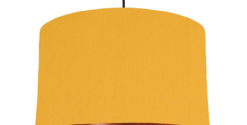 Sunshine & Copper Mirrored Lampshade - 40cm Wide