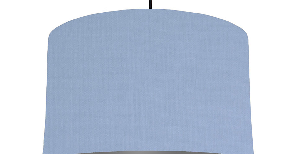 Sky Blue & Dark Grey Lampshade - 40cm Wide