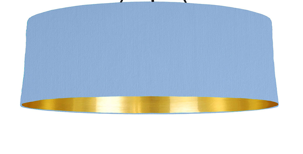 Sky Blue & Gold Mirrored Lampshade - 100cm Wide