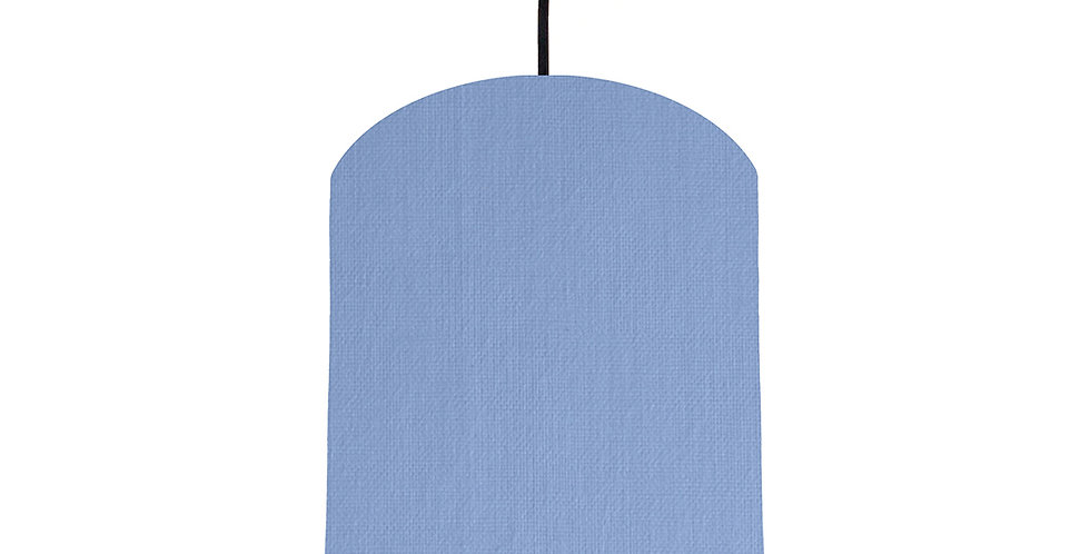 Sky Blue & Wood Lined Lampshade - 20cm Wide