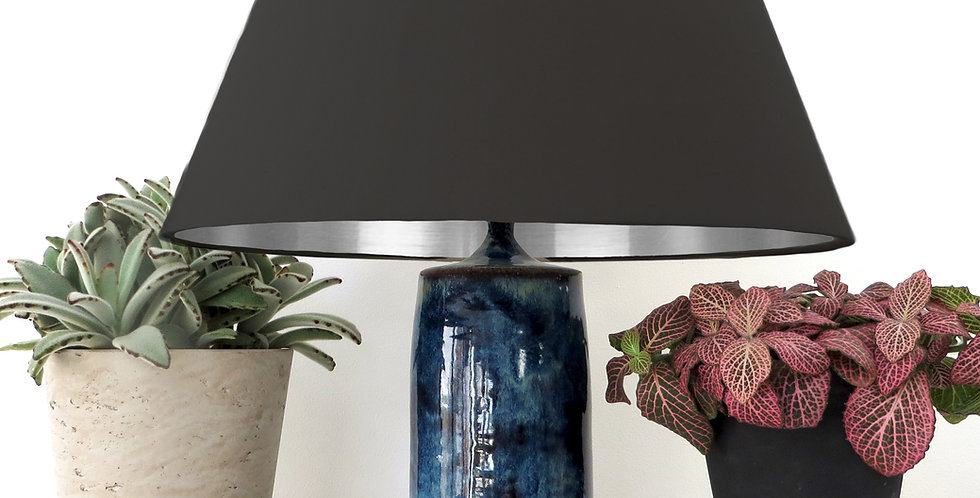 Conical Lampshade (30Tx40Bx30H) - Silver Mirror Lining