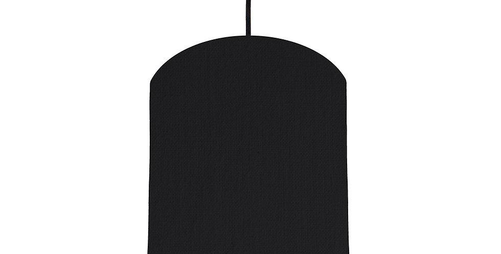 Black & Burgundy Lampshade - 20cm Wide