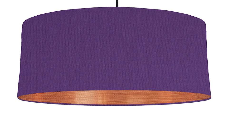 Violet & Brushed Copper Lampshade - 70cm Wide