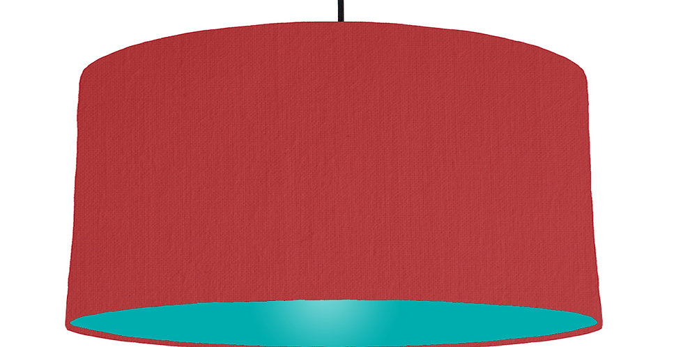 Red & Turquoise Lampshade - 60cm Wide