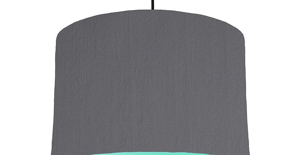 Dark Grey & Mint Lampshade - 30cm Wide