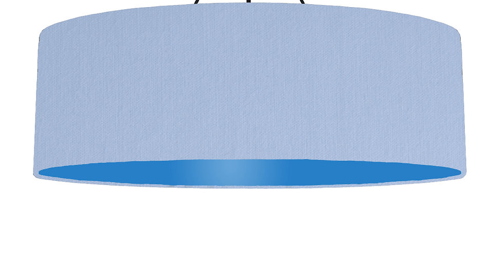 Sky Blue & Bright Blue Lampshade - 100cm Wide