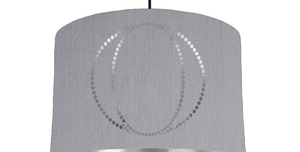 Personalised Letter Lampshade - Silver lining