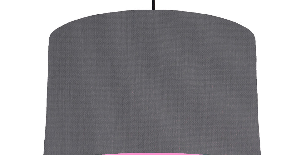 Dark Grey & Pink Lampshade - 40cm Wide
