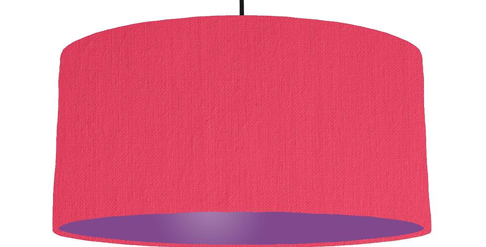 Cerise & Purple Lampshade - 60cm Wide