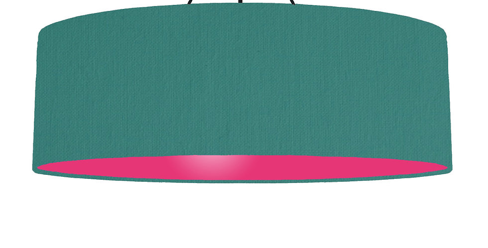 Jade & Magenta Lampshade - 100cm Wide