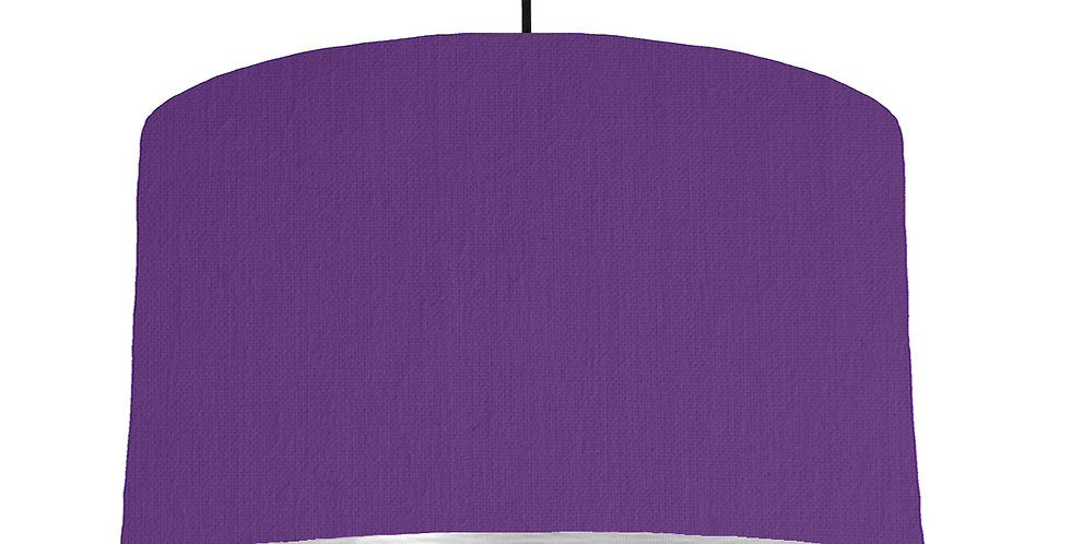 Violet & Brushed Silver Lampshade - 50cm Wide