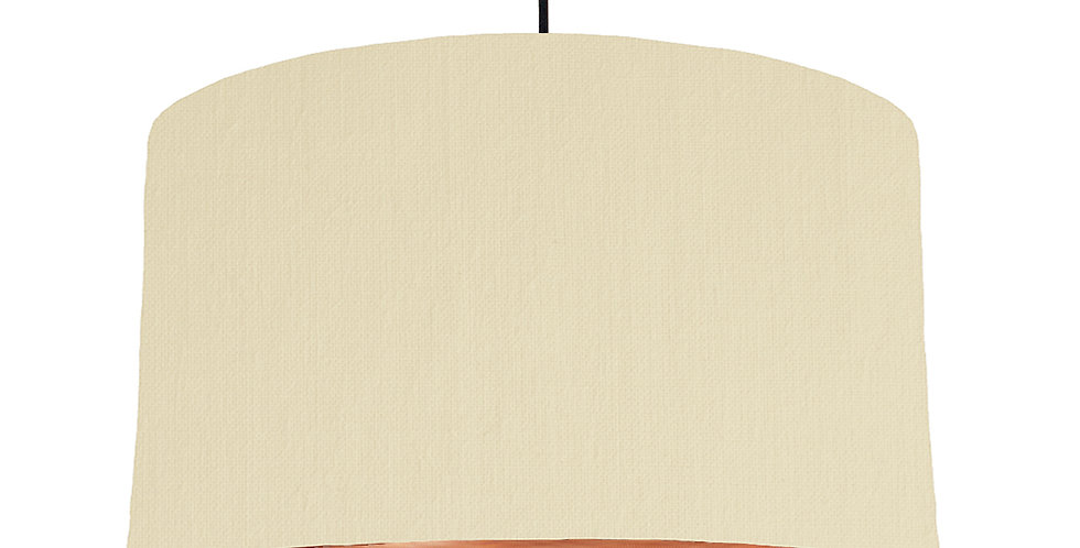 Natural & Brushed Copper Lampshade - 50cm Wide