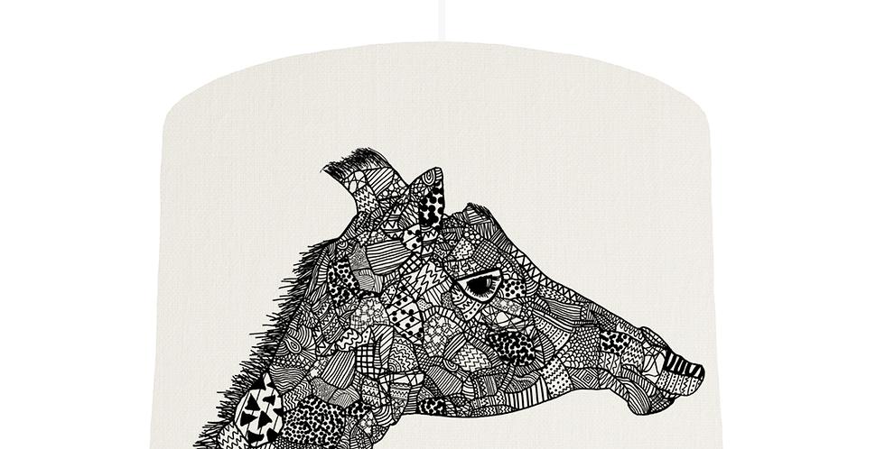 Giraffe Shade - White Fabric