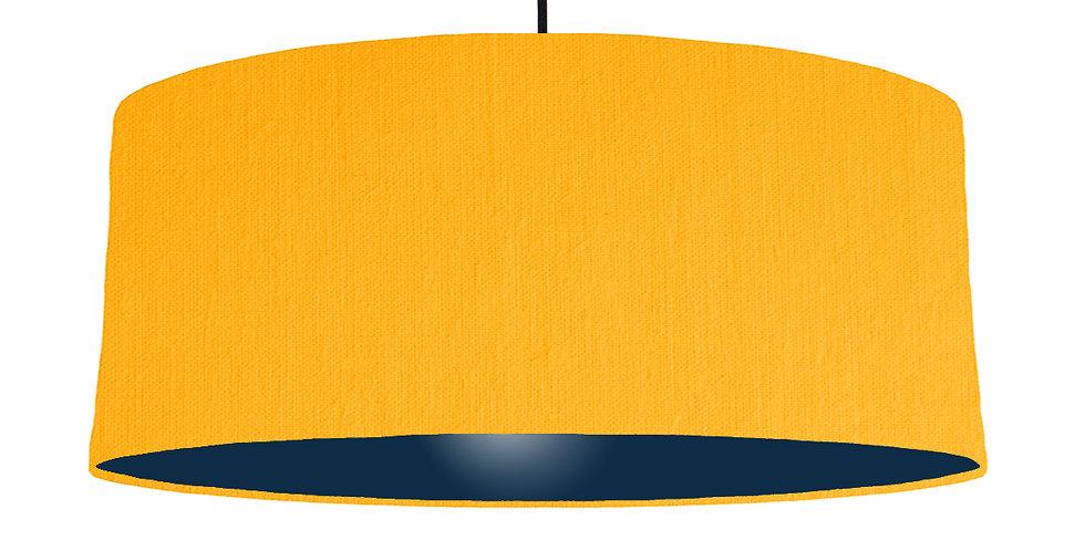 Sunshine & Navy Lampshade - 70cm Wide