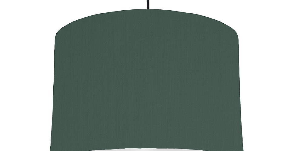 Bottle Green & Light Grey Lampshade - 30cm Wide