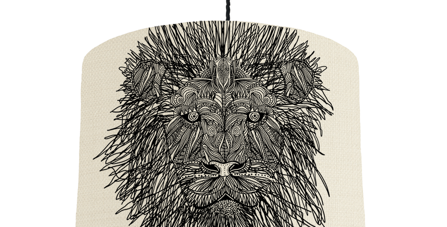 Lion - Natural & Forest Green Lining
