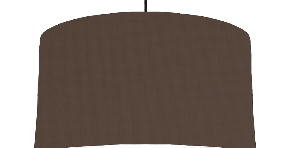 Brown & White Lampshade - 50cm Wide