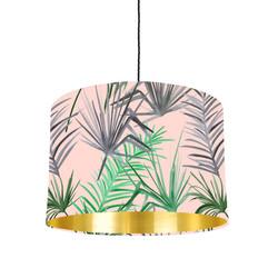 Tropical leaf lampshade