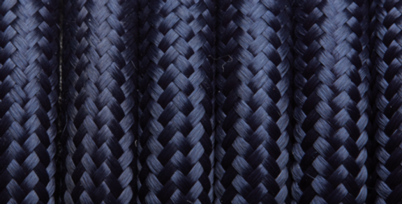 Navy - Industville Round Fabric Cable