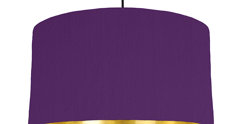 Violet & Gold Mirrored Lampshade - 50cm Wide