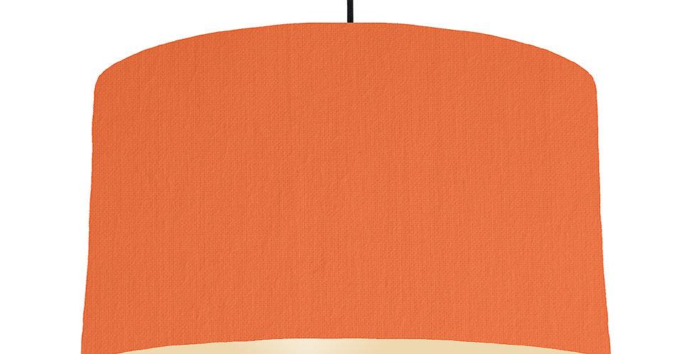 Orange & Ivory Lampshade - 50cm Wide