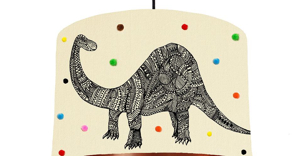 Dinosaur Pom Pom Lampshade - Metallic Lining