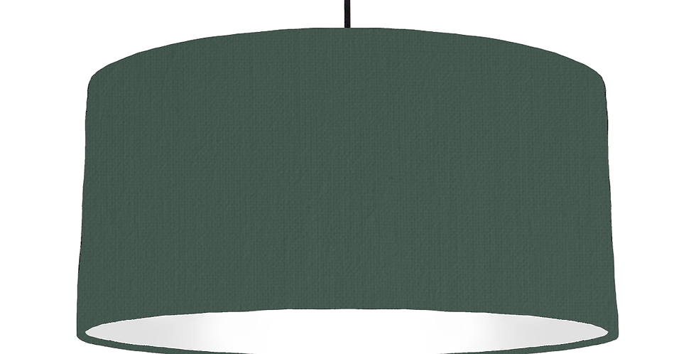 Bottle Green & White Lampshade - 60cm Wide