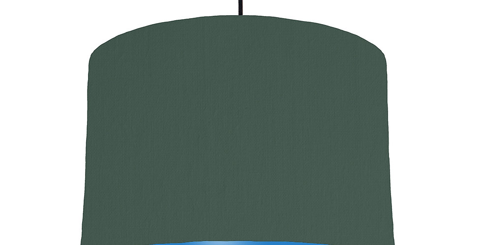 Bottle Green & Bright Blue Lampshade - 30cm Wide