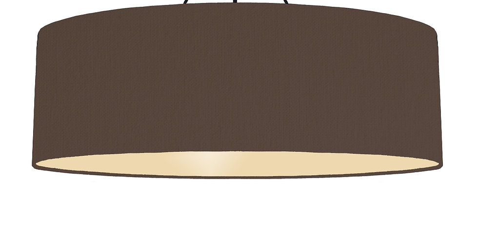 Brown & Ivory Lampshade - 100cm Wide