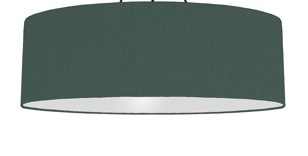 Bottle Green & Light Grey Lampshade - 100cm Wide