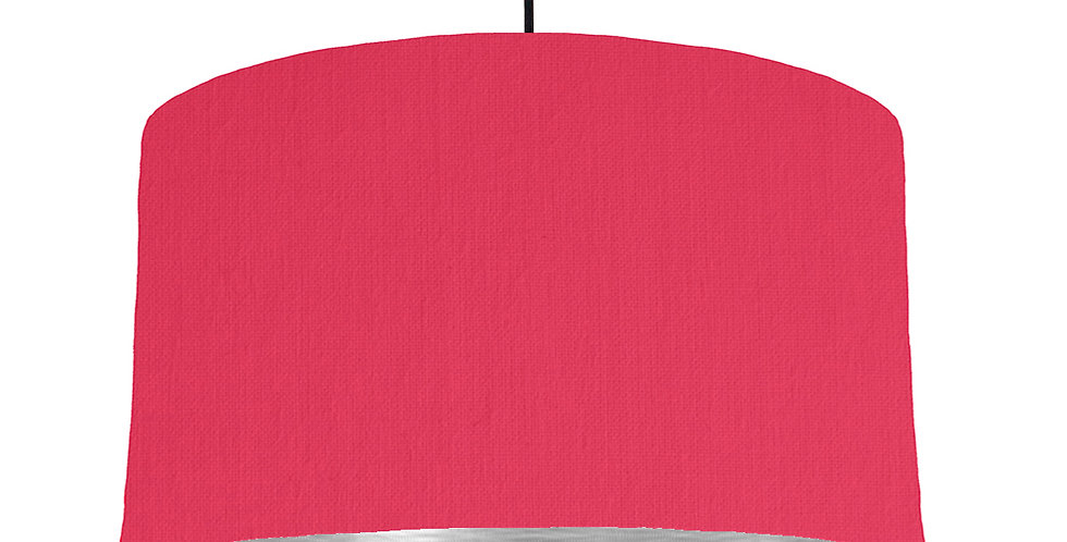 Cerise & Brushed Silver Lampshade - 50cm Wide