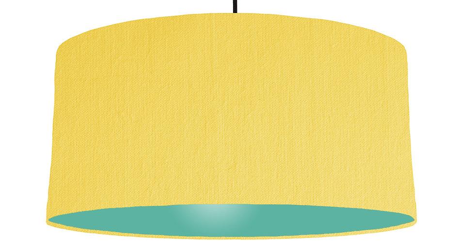 Lemon & Turquoise Lampshade - 60cm Wide