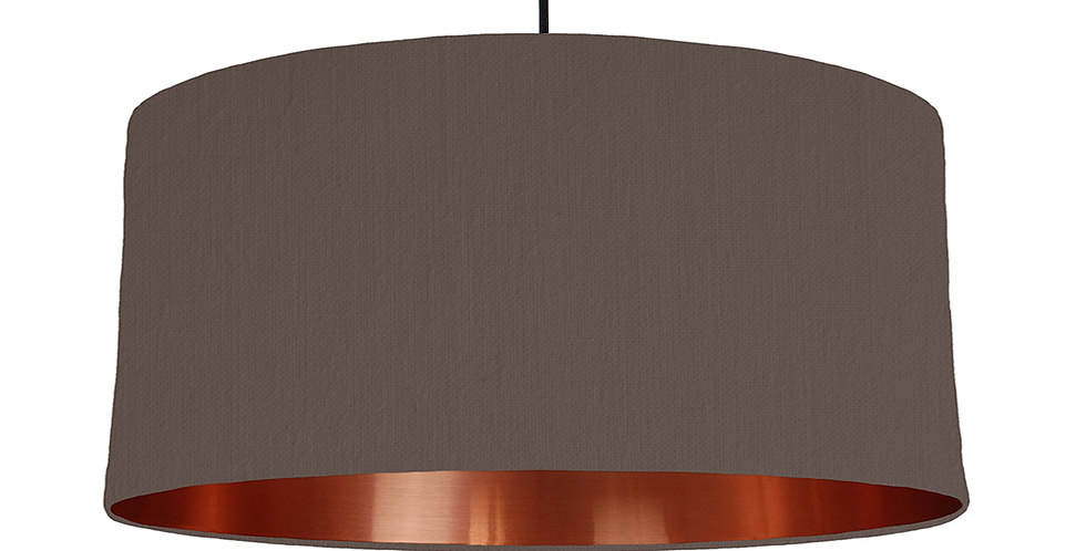 Brown & Copper Mirrored Lampshade - 60cm Wide