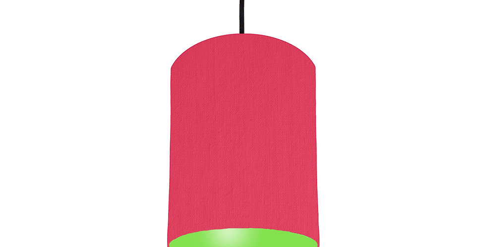 Cerise & Lime Green Lampshade - 15cm Wide
