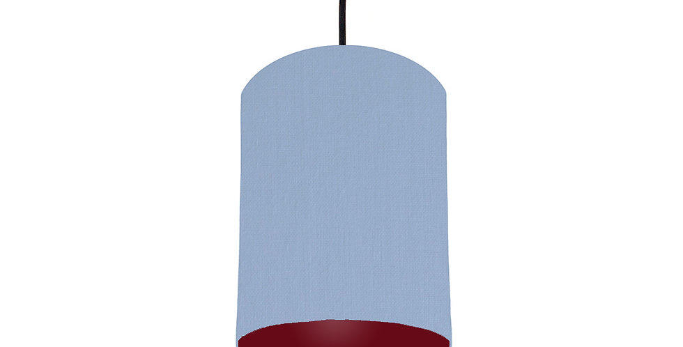Sky Blue & Burgundy Lampshade - 15cm Wide