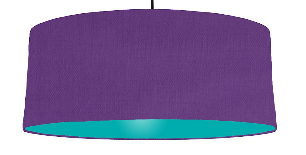 Violet & Turquoise Lampshade - 70cm Wide