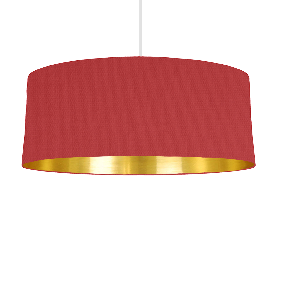 Red Gold Mirrored Lampshade 70cm Wide