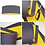 Thumbnail: Dark Grey & Butter Yellow Lampshade - 70cm Wide
