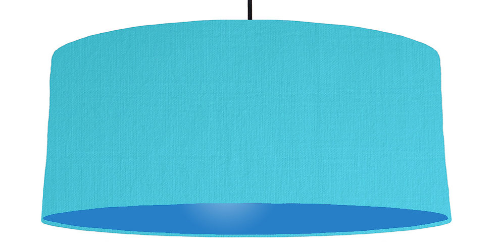 Turquoise & Bright Blue Lampshade - 70cm Wide