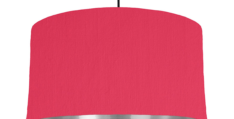 Cerise & Silver Mirrored Lampshade - 50cm Wide