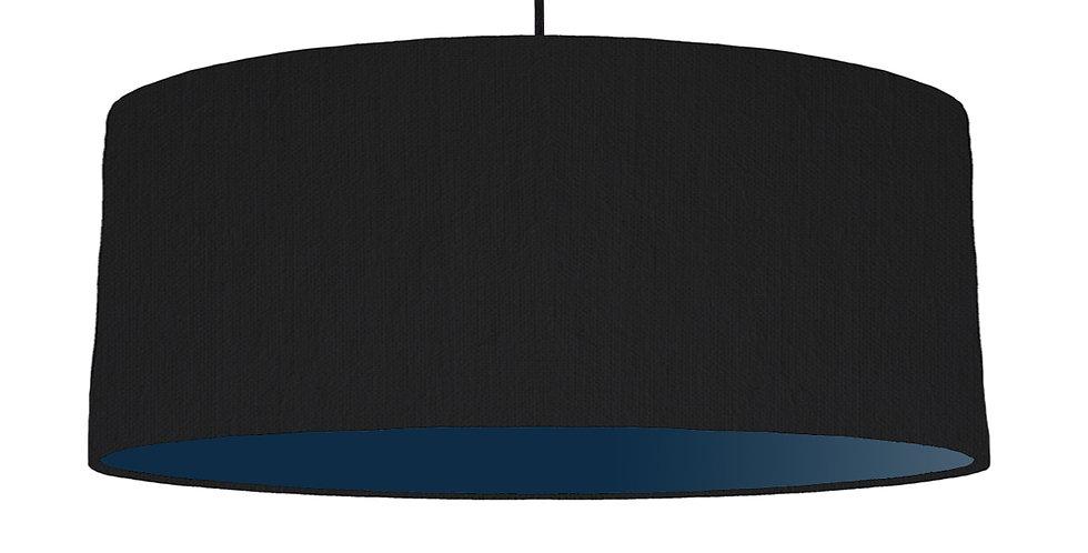 Black & Navy Lampshade - 70cm Wide