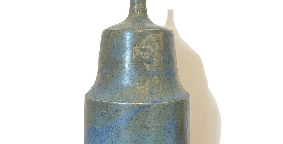 Blue & Green Bespoke Ceramic Table Lamp Base - 1 Available